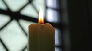 candle in the Lady Chapel