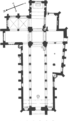 architectural plan of the church