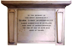Lord somerville's memorial