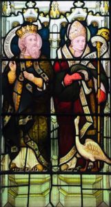 cooper window detail - Edward the Confessor and St Hugh with his swan
